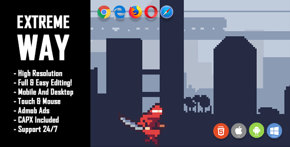 Extreme Way - HTML5 Game + Mobile Version! (Construct 2 / Construct 3 / CAPX) - CodeCanyon Item for Sale