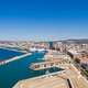 Aerial view of Marseille pier - Vieux Port, Saint Jean castle, a - PhotoDune Item for Sale