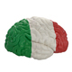 Italy. Flag on Human brain. 3D illustration. - PhotoDune Item for Sale