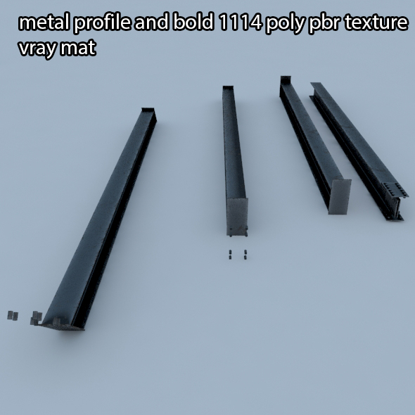 metal profile - 3DOcean Item for Sale