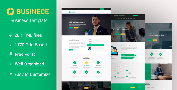 Businece -Business Multipurpose and Corporate Template Free Download | Nulled
