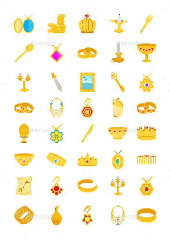 40 Treasure Flat Icons - Icons