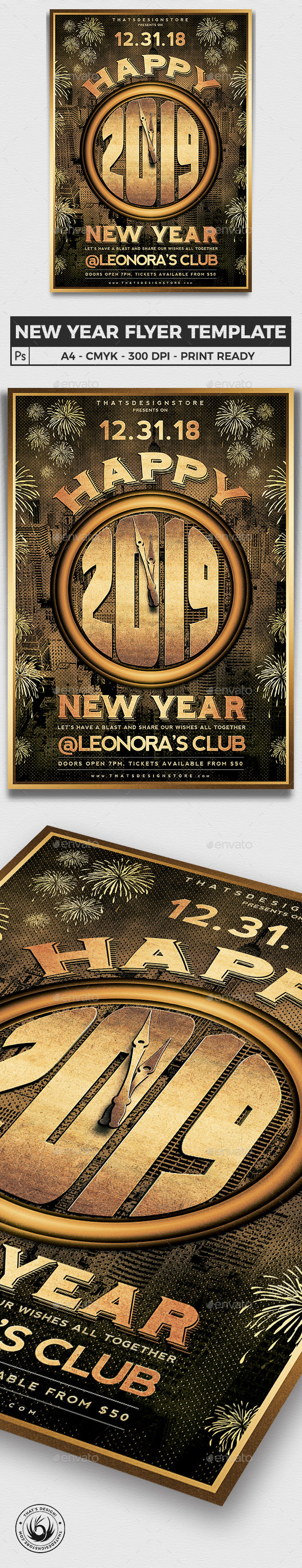 New Year Flyer Template V4 - Clubs & Parties Events