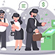 Queue at ATM Withdrawing Money From Card - GraphicRiver Item for Sale