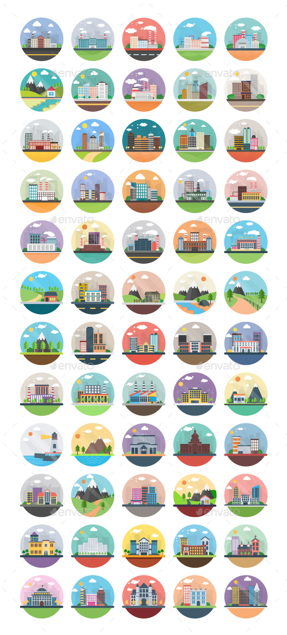 60 Ecological Industrial Countryside - Icons