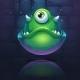 Vector Cartoon Illustration Green Monster - GraphicRiver Item for Sale