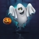 Vector Illustration Cartoon Ghost - GraphicRiver Item for Sale