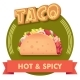 Vector Taco Illustration or Label for Menu - GraphicRiver Item for Sale