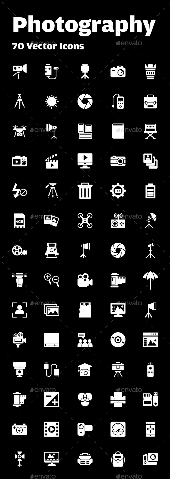 70 Photography Vector Icons - Icons