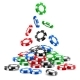 Pile of Gambling Tokens or Heap of Casino Chips - GraphicRiver Item for Sale