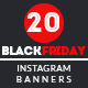 20 Black Friday Instagram Banners - GraphicRiver Item for Sale