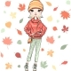 Vector Fashion Girl in Autumn Clothes - GraphicRiver Item for Sale