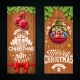 Merry Christmas Banner Design with Glass Ball - GraphicRiver Item for Sale