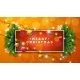 Merry Christmas Illustration on Orange Background - GraphicRiver Item for Sale