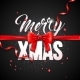 Merry Christmas Illustration with Red Bow Ribbon - GraphicRiver Item for Sale