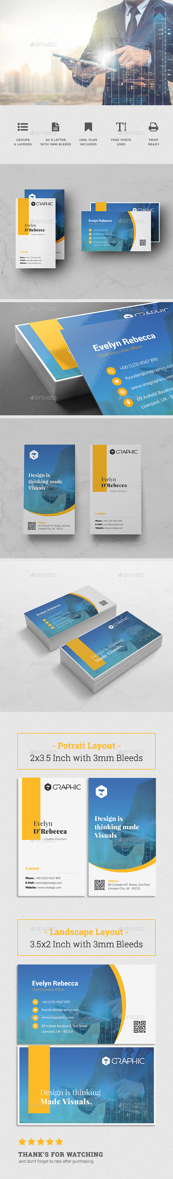 Minimalist Business Card Vol. 15 - Business Cards Print Templates