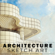 Architecture Sketch Art Photoshop Actions - GraphicRiver Item for Sale