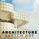 Architecture Sketch Art Photoshop Actions