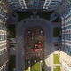 Bird-eye view of the playground kids in a residential complex in sunny day - PhotoDune Item for Sale