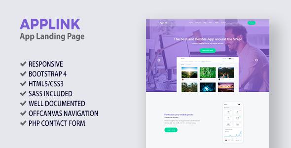 AppLink - App Landing Page by marcoarib