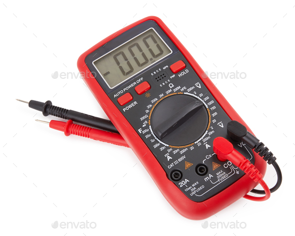 Digital multimeter isolated - Stock Photo - Images