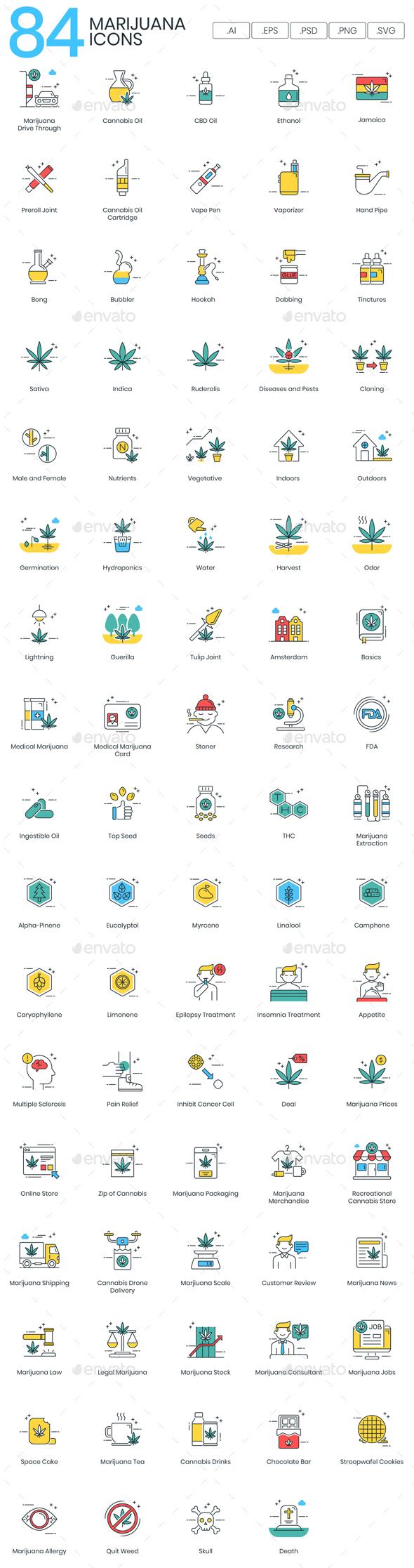 Marijuana Icons - Miscellaneous Icons