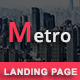 Free Download Metro - Multipurpose Responsive HTML Landing Pages Nulled