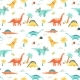 Watercolor Dinosaur Baby Pattern - GraphicRiver Item for Sale