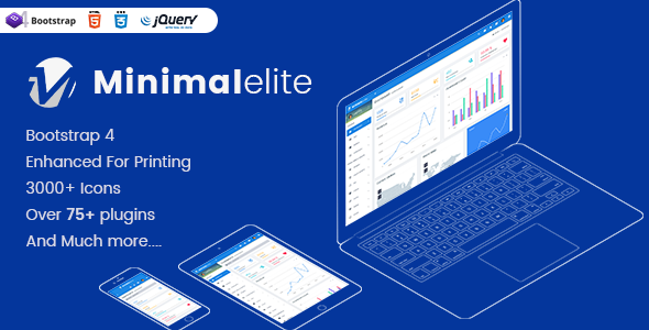 Minimal elite Admin - Bootstrap 4 Admin Dashboard Templates and WebApps Templates Free Download | Nulled