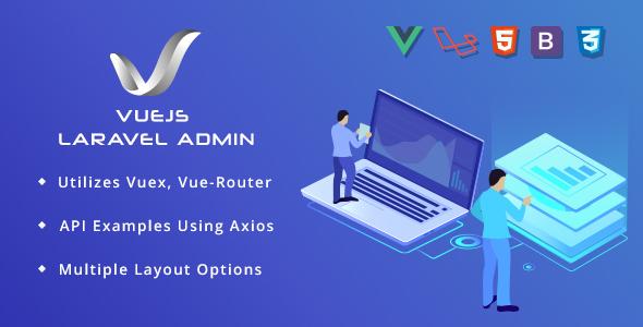 VueJS Laravel Admin Template - Admin Templates Site Templates