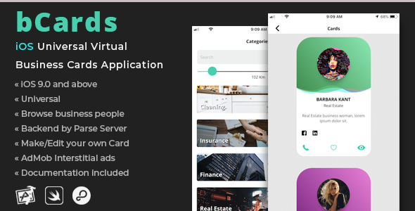 bCards | iOS Universal Virtual Business Cards Application            Nulled