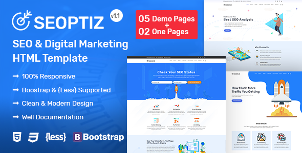 Seoptiz - SEO & Digital Marketing Agency HTML Template