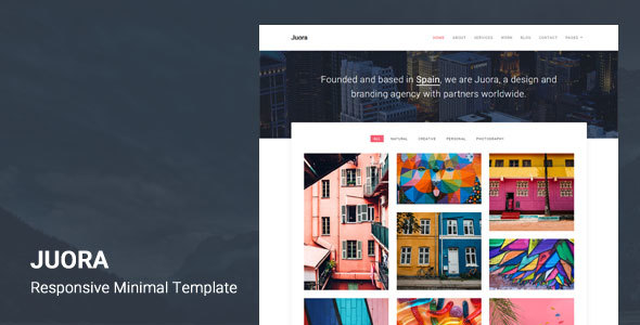 Juora - Minimal HTML5 Template Free Download | Nulled