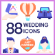 Wedding Flat Icons - GraphicRiver Item for Sale