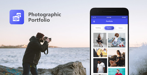 Photographic Portfolio app based on WordPress with AdMob and Firebase Push Notification            Nulled