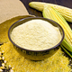 Flour corn in bowl with bag on board - PhotoDune Item for Sale