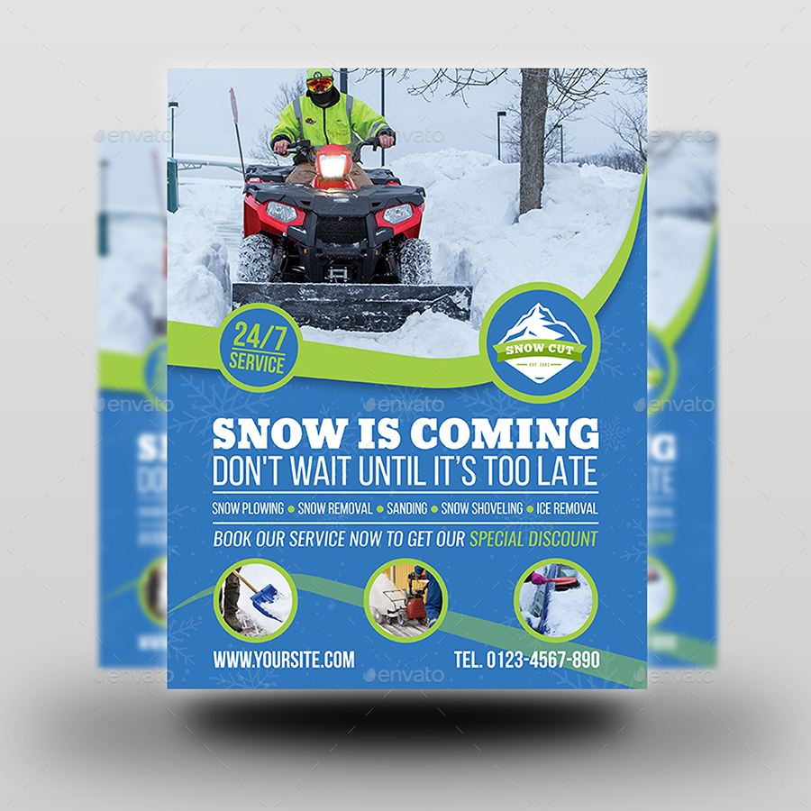 Snow Removal Service Flyer Template By OWPictures