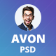 Avon  - Creative Personal Portfolio PSD Template - ThemeForest Item for Sale
