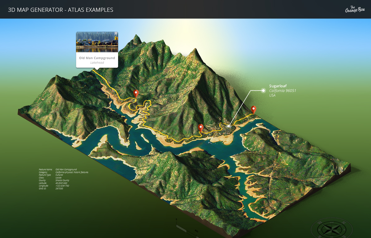 3D Map Generator - Atlas - From Heightmap to real 3D map by Orange_Box