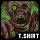 Walking Zombie T-Shirt Design - GraphicRiver Item for Sale