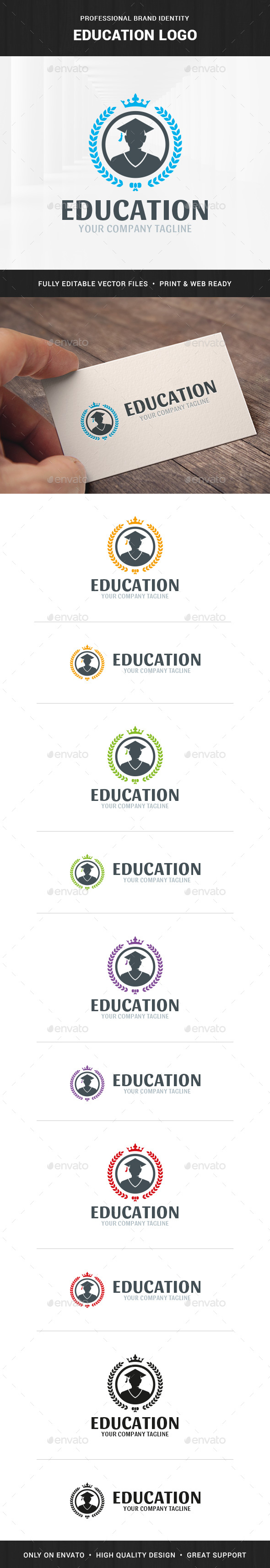 Education Logo Template - Humans Logo Templates