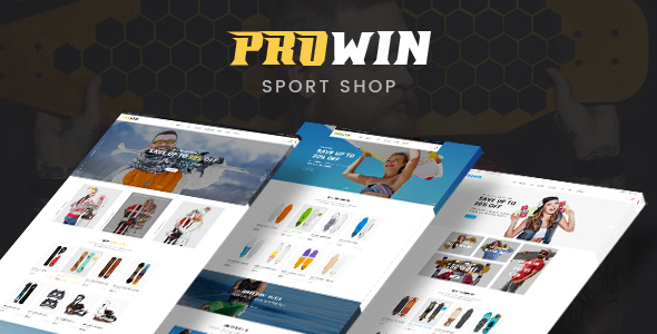 Prowin - Sports eCommerce Bootstrap 4 Template Free Download | Nulled
