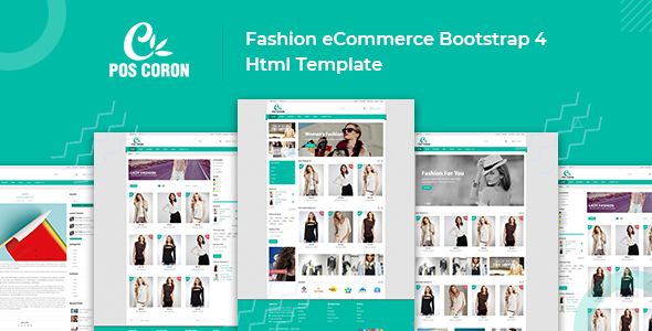 Coron – Fashion eCommerce Bootstrap 4 Template Free Download | Nulled