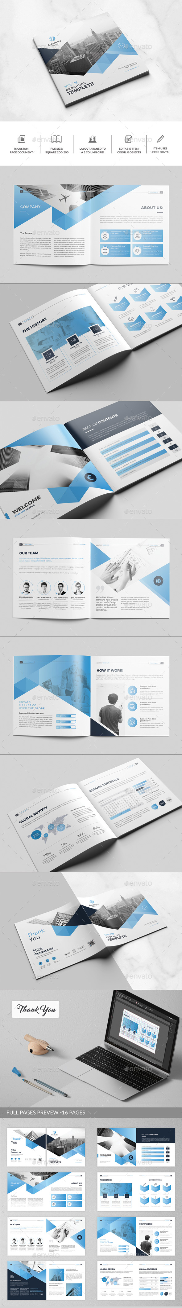 Company Profile Square Brochure - Corporate Brochures