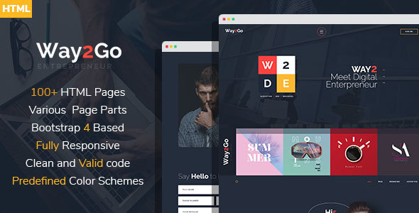 Way2Go - Digital Entrepreneur HTML Template