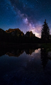 Mliky way reflection over lake Antorno, Dolomites, Italy - PhotoDune Item for Sale
