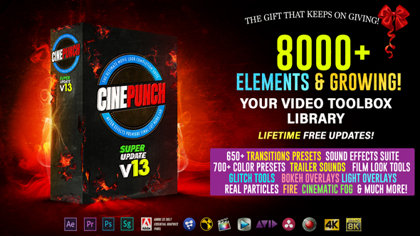 CINEPUNCH - 8000+ Elements and Growing! V.13 - After Effects Add Ons & Project (Videohive)