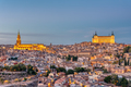 The old city of Toledo in Spain at dusk - PhotoDune Item for Sale