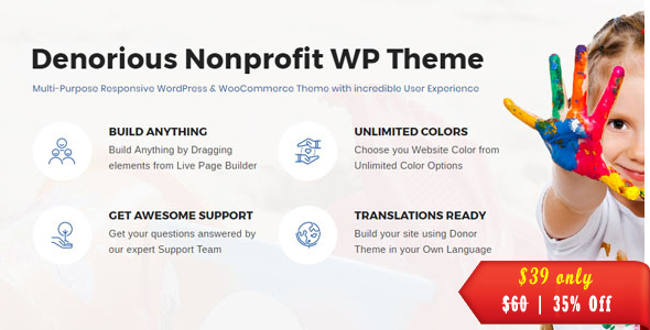 Denorious | Nonprofit and Political WordPress Theme