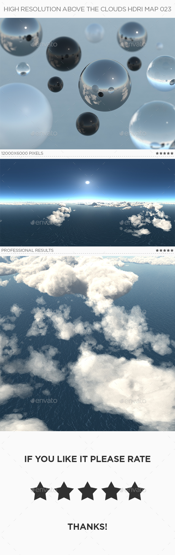 High Resolution Above The Clouds HDRi Map 023 - 3DOcean Item for Sale